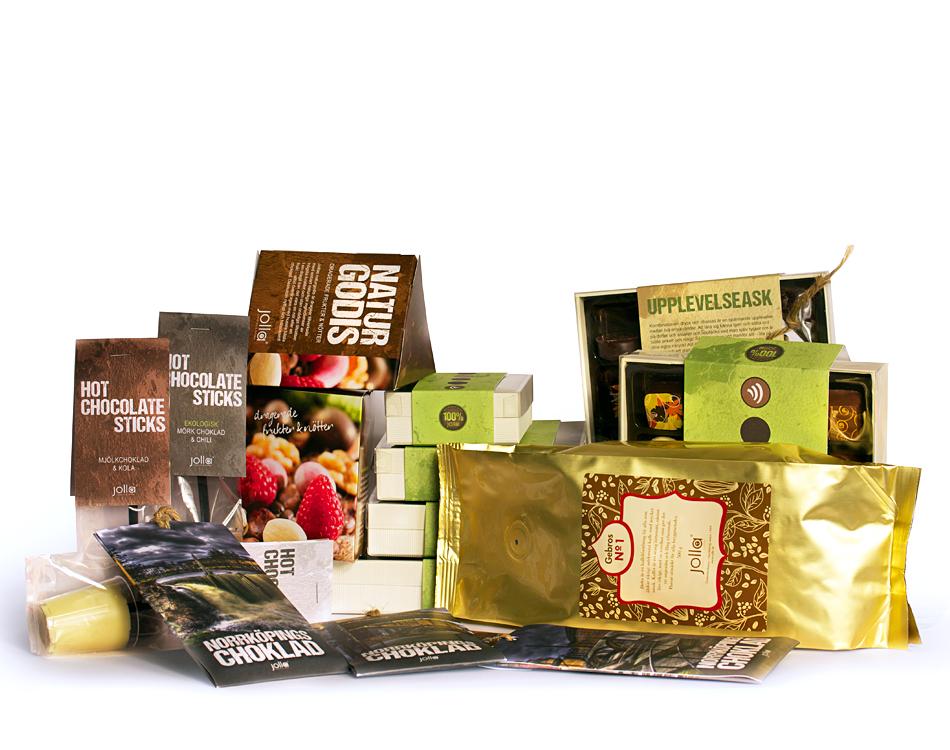 Samlingsbild förpackningar choklad